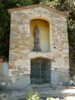 Isola Maggiore - Shrine with Wooden Ruined Statue by XiuLanStock