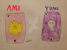 Ami and Yumi's iPhone cases by DarkRoseDiamond123