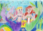 Elora and Bianca as mermaids by NiagraFalls