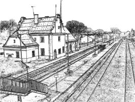Rail station by angelines