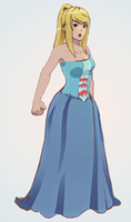 Samus in a dress xD by littlemiss-princess