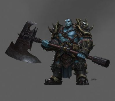 Character Design _Barbarian by yinyuming