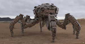 Desert War Rig Mech Design by sancient