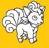 vulpix lineart by Animallover08