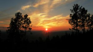 Sunset at Glomsrudkollen, Norway by francis1ari