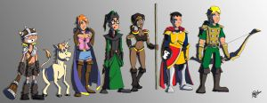Dungeons and Dragons TV Series Characters by MatheusBOliveira