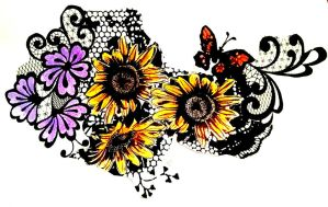 sunflowers and lace14 by speleochick