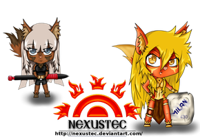 Dalia and Kohty chibis by Nexustec