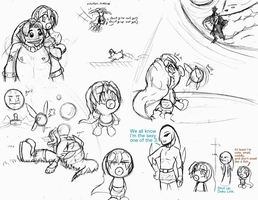 Majora's Mask Sketch Dump by Super-Sonic-101