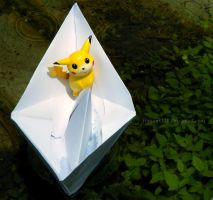 Pikachu's boat ride by Bimmi1111