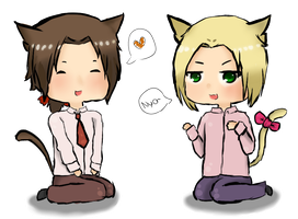 Lithuania and Poland Nekos ~ by OishiiTaco