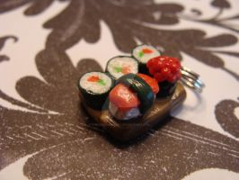 Polymer Clay Sushi Platter by TheCharmBakery