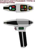 Star fleet phaser  type 3 prototype by bagera3005