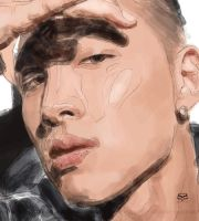 Taeyang's face- progress by moyan