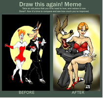 Draw This Again Red Hot Redo Meme by originalceenote
