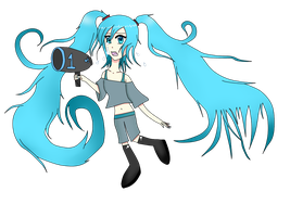Coloured Lineart: Hastune Miku by Ley-san