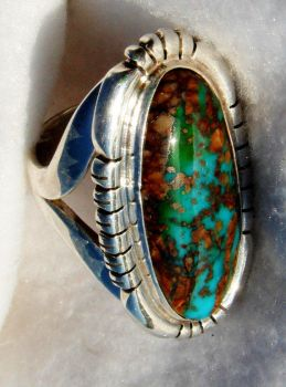 Royston Turquoise Ring by FlagstaffTraders