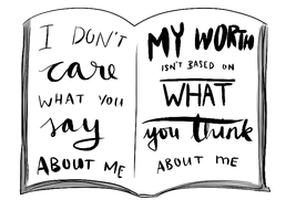 Request: I don't care what you think about me ... by request-art