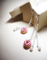 donut earrngs by PetiteCreation