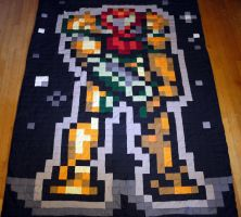 Metroid Samus Power Suit Quilt by 8bitHealey