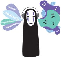 No-Face likes Music. by Sebyy