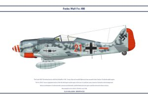 Fw190A7 JG1 4 by WS-Clave