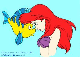 Ariel and Flounder by Vampire2099