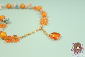 Amber Swallow Necklace Detail by PeppermintPuff
