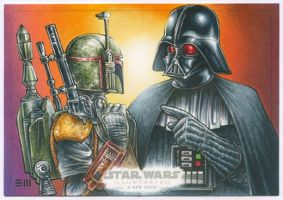 Darth Vader / Boba Fett Artist Proof by Erik-Maell