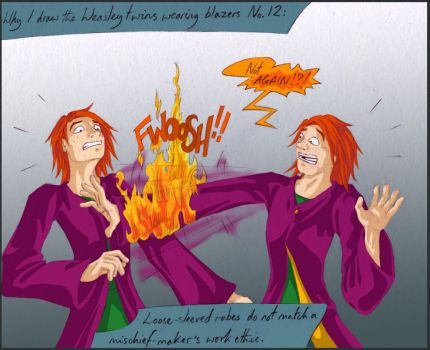 Fred and George- Blazers by olafpriol