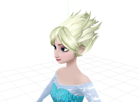 WIP - Evil Elsa [Blonde] by wintrydrop