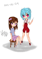 two random chibis by Pcyzicus