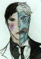 Two-Face sketch by NOTEBLUE13