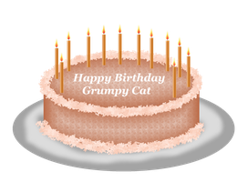 Grumpy Cat's Birthday Cake by LadyIlona1984