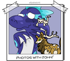 Photos with John - Kirin and Kitty by ellysketchit