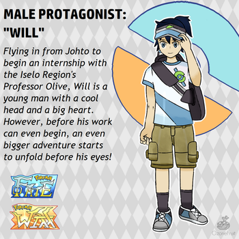 Pokemon Fate and Will Character Art: Will by OzoneFruit