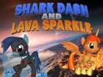 Shark Dash and Lava Sparkle Version 2 by 4-Chap