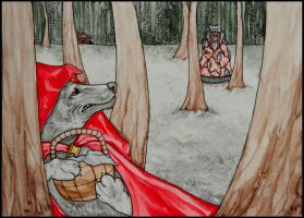 Red Riding Wolf by LurkingSpork