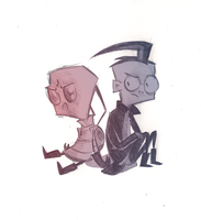 ZIM and Dib by RachelJohanna