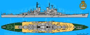 HMS Vanguard by linseed