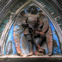 angel knight tomb sculpture by amka-stock
