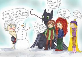 omg Jack Frost can Blush! by Checker-Bee