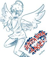 Monochrome Britannia Angel by LemOnShoTacOn
