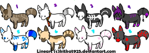 Wolf Adoptables Set - [4 POINTS] - [OPEN] by Yuli-Adopts