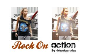 Rock On action by xblaackparadex