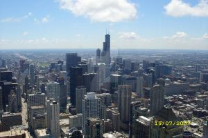 Downtown Chicago From Above 2 by BMML