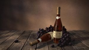 Wine bottles by leticiakao