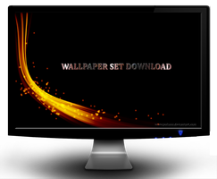 Fire Abstract Wallpaper Set by jeshans