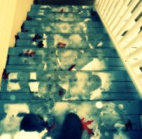 Steps Leading Down by Flowerintherain77