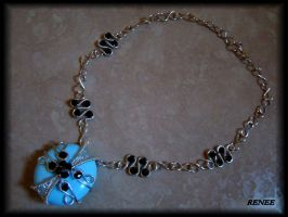 Blue and black necklace by jasmin7